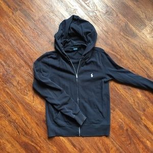 Ralph Lauren Navy Hoodie ZIP UP